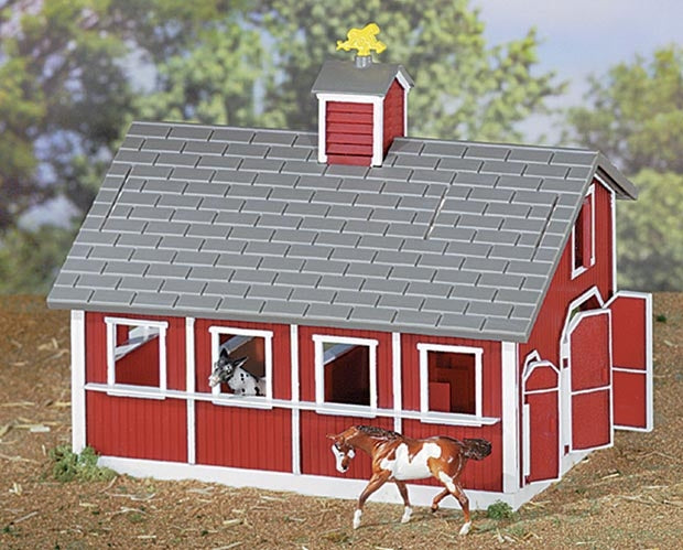 Photo of Breyer Red Stable Set with horse accessories