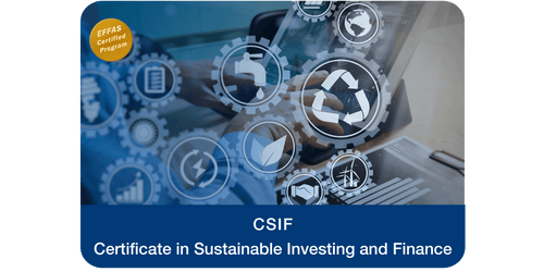 CSIF – Certificate in Sustainable Investing and Finance - key visual