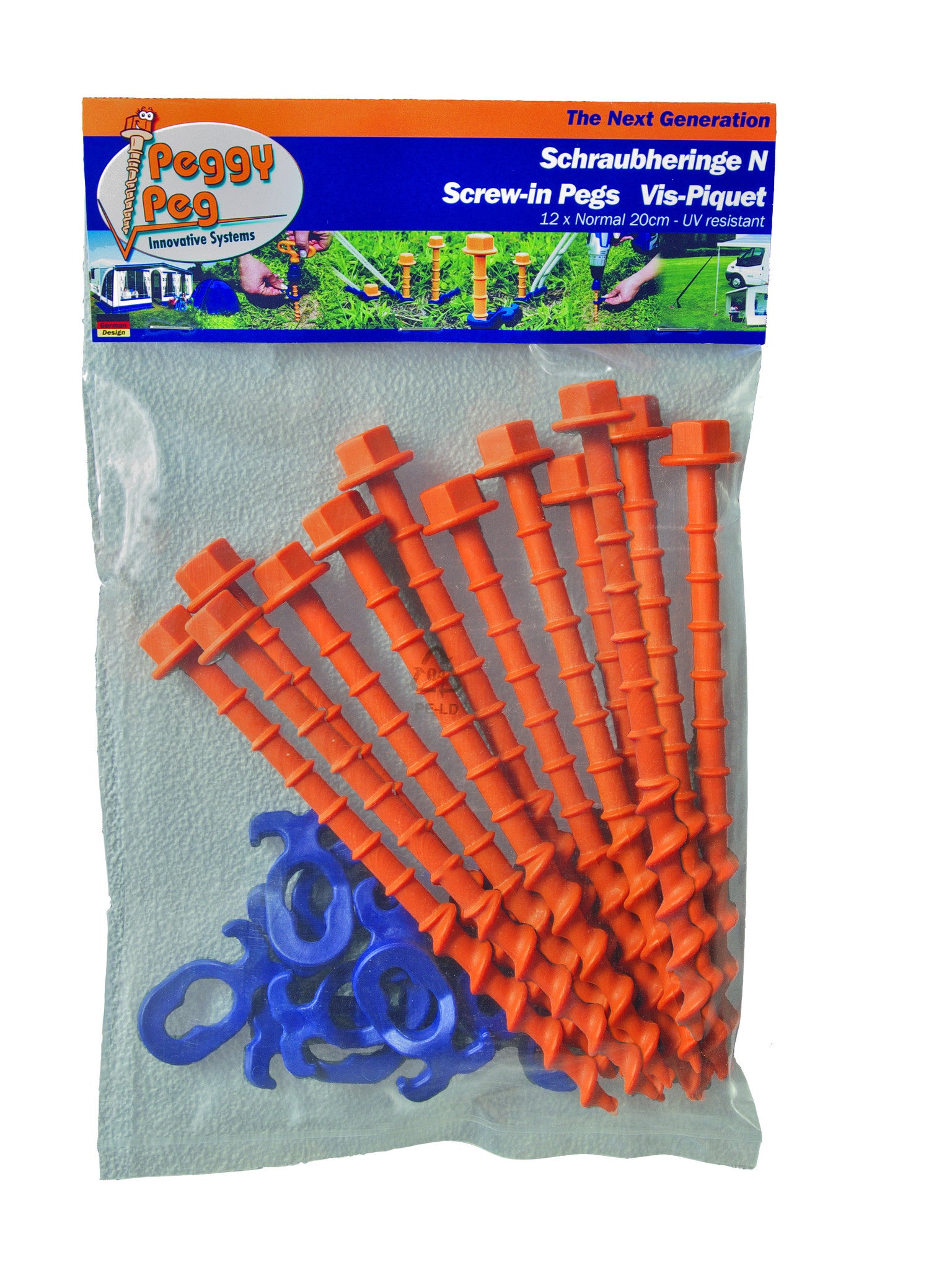 Peggy Peg Standard Tent Peg - Pack of 12  sc 1 th 259 : screw in tent anchors - memphite.com