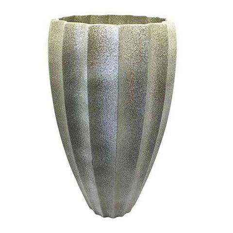 Fluted Vase-Celadon Pebble
