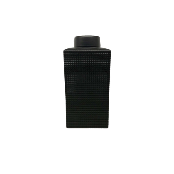 Grid Texture Jar-Black-Sm