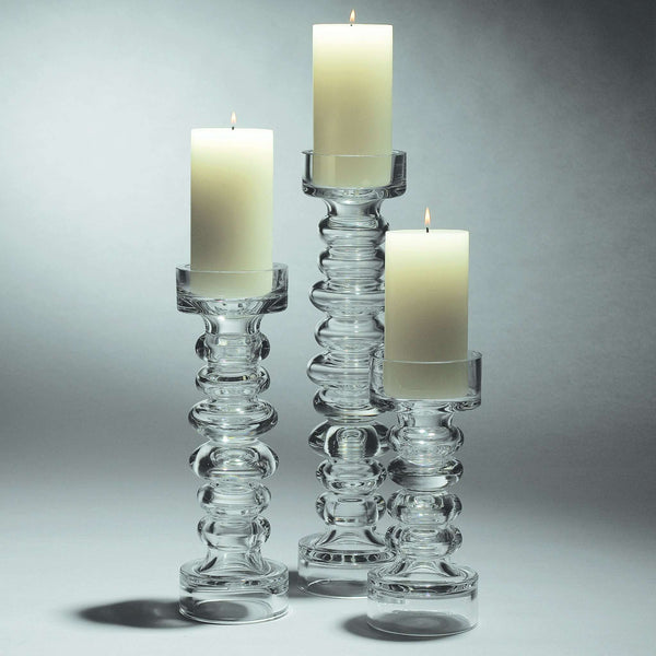 Glass Ribbed Candleholder/Vase-Lg