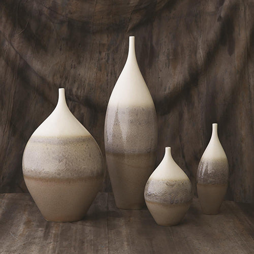 Cream Rises Vase-Tall-Small size