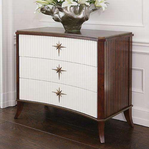 Buy Klismos 3 Drawer Cabinet-Walnut w/Ivory Doors Online at best prices in Riyadh
