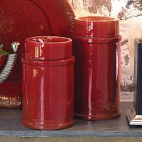 Red Zinger Jar-Large size decorative