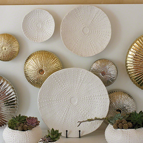 Ceramic Urchin Platter-Matte White-Medium