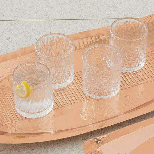 S/4 Honeycomb Old Fashion Glasses