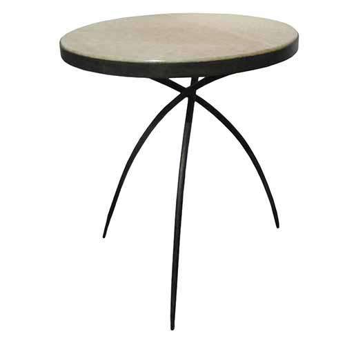 Tripod Table w/Onyx Top-Lg