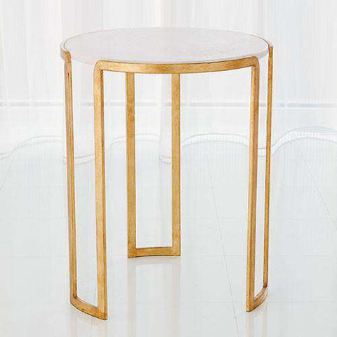 Buy Channel Accent Table-Gold Leaf Online at best prices in Riyadh