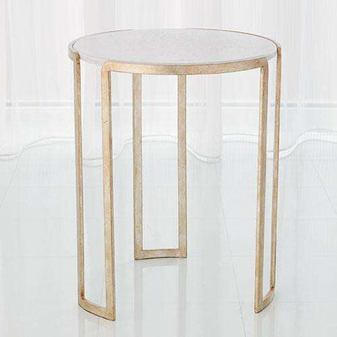 Buy Channel Accent Table-Silver Leaf Online at best prices in Riyadh