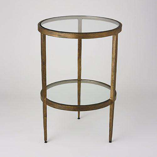 Buy Laforge Two-Tiered Side Table-Antique Gold Online at best prices in Riyadh
