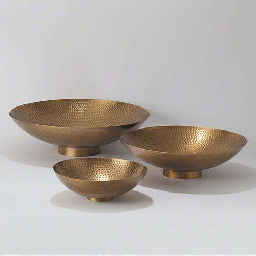 Indira Bowl-Antique Brass-Lg