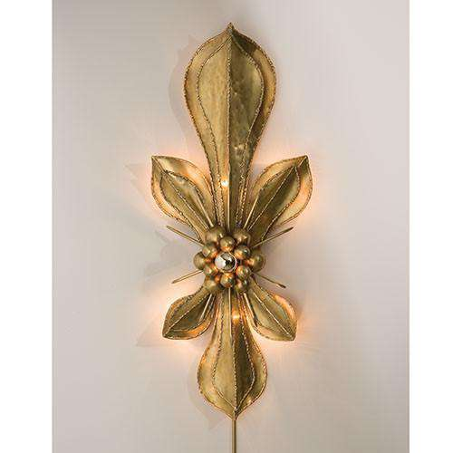 Buy Brass Fleur De Lis Wall Sconce Online at best prices in Riyadh