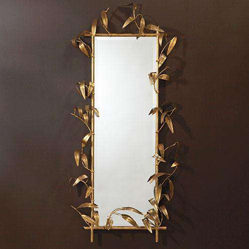 Buy Bamboo Mirror w/Gold Finish Online at best prices in Riyadh