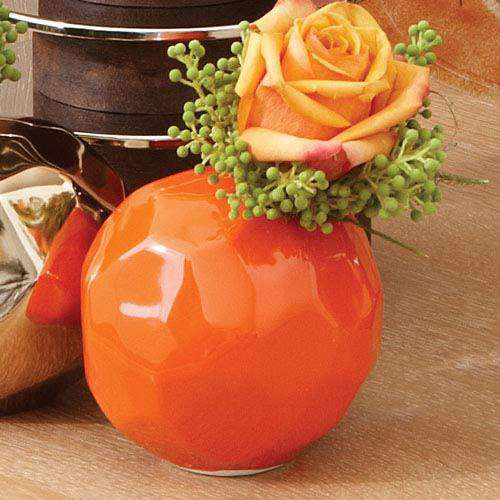 Nugget Bud Vase-Orange