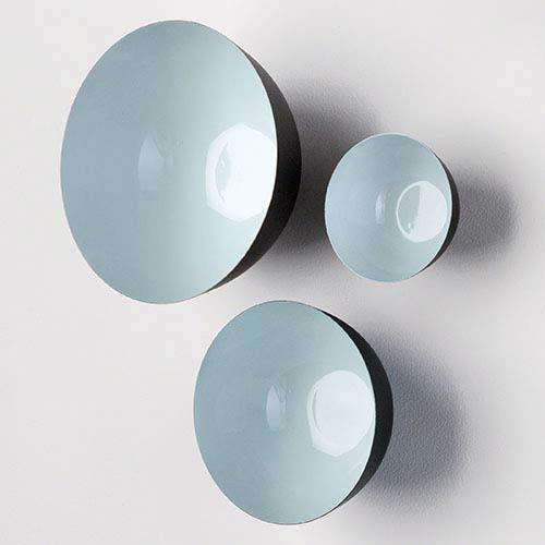 S/3 Flying Wall Bowls-Pale Aqua