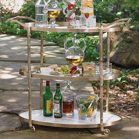 Buy Arbor Bar Cart-Brass Online at best prices in Riyadh