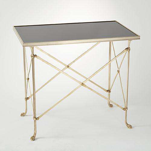 Buy Rectangular Directoire Table-Brass & Black Granite Online at best prices in Riyadh