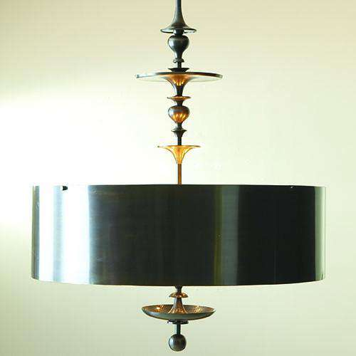 Buy Turned Pendant Chandelier-Antique Bronze Finish Online at best prices in Riyadh
