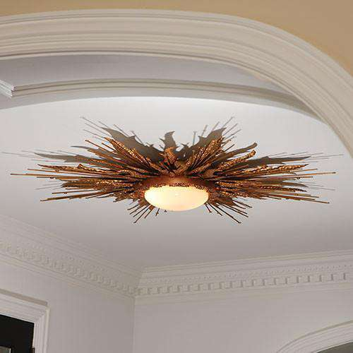Buy Flame Light Fixture-Gold Online at best prices in Riyadh