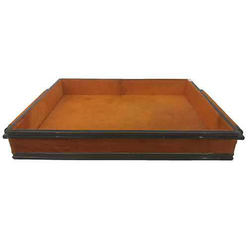 Double Handle Serving Tray-Hair on Orange/Bronze finish