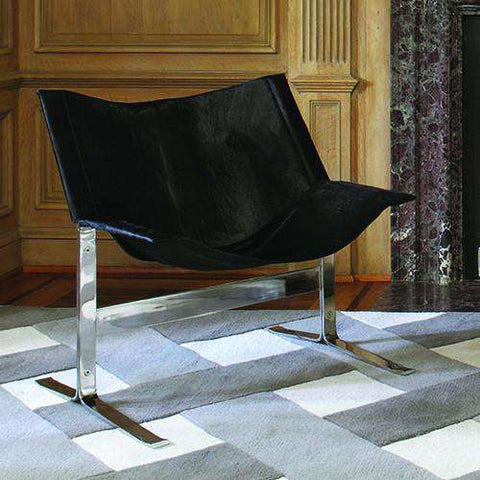 Buy Cantilever Chair-Hair-on-Hide-Black Online at best prices in Riyadh
