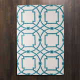 Arabesque Rug-Aqua-5' x 8'