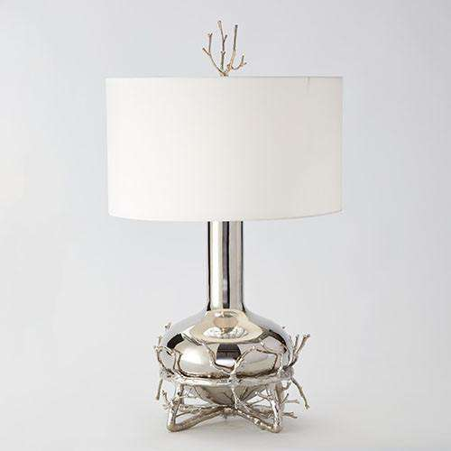 Buy Fat Nickel Twig Table Lamp Online at best prices in Riyadh