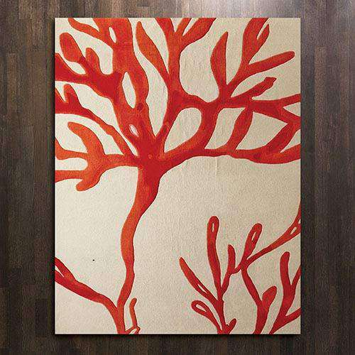 Coral Rug-Red-5' x 8'