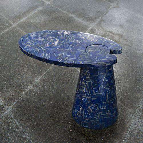 Buy Cone Cantilever Table-Lapis Lazuli Online at best prices in Riyadh