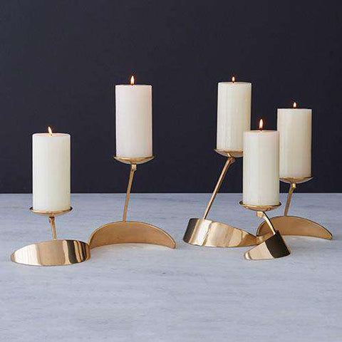 """S"" Candle Holder-Brass"