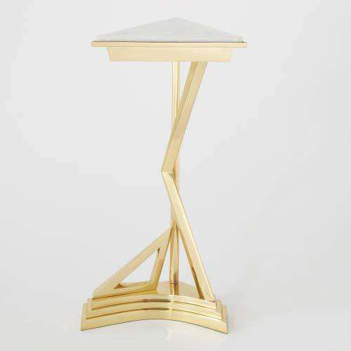 Abstract Side Table-Brass