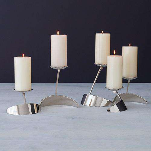 """S"" Candle holder-Nickel"