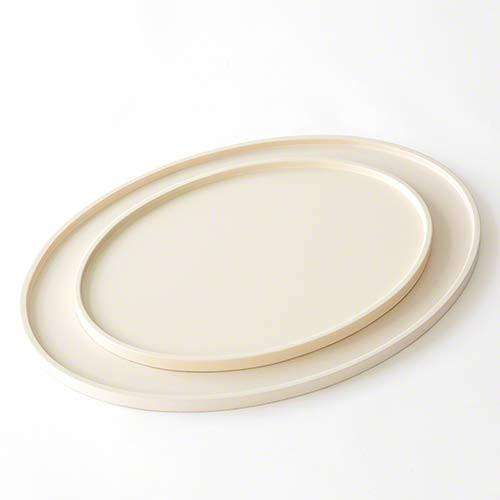Elegant Oval Drinks Tray-Ivory-Sm