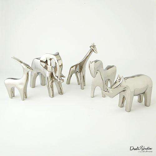 Elephant-Bright Silver sculpture
