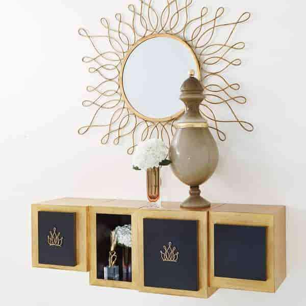 Lombardy Wall Cabinet-Crown-Large