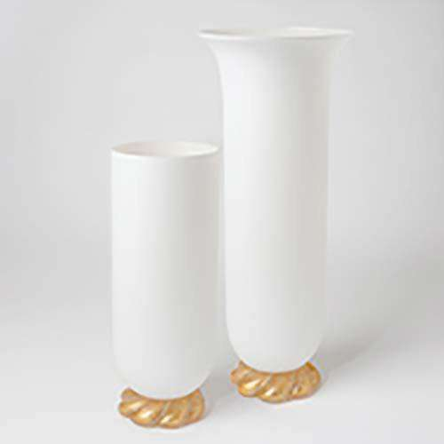 Golden Glass Rope Vase-Lg