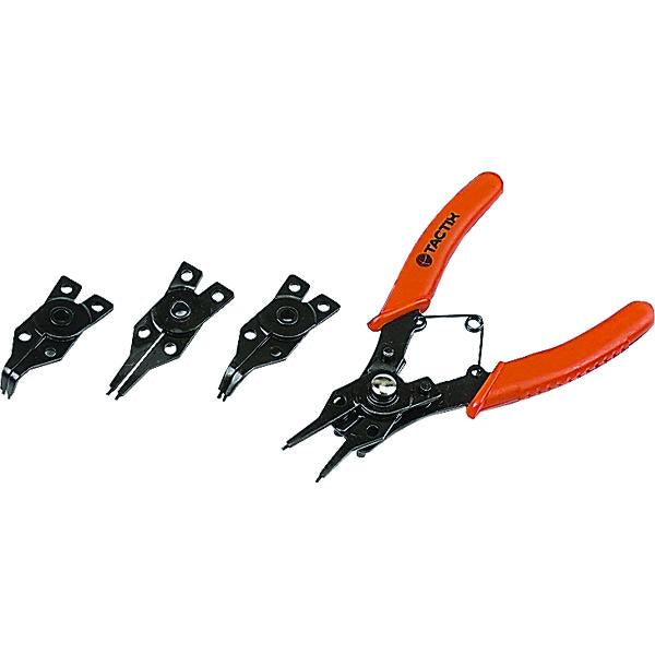 Tactix Pliers Circlip 4Pc Set | Pliers - Sets-Hand Tools-Tool Factory