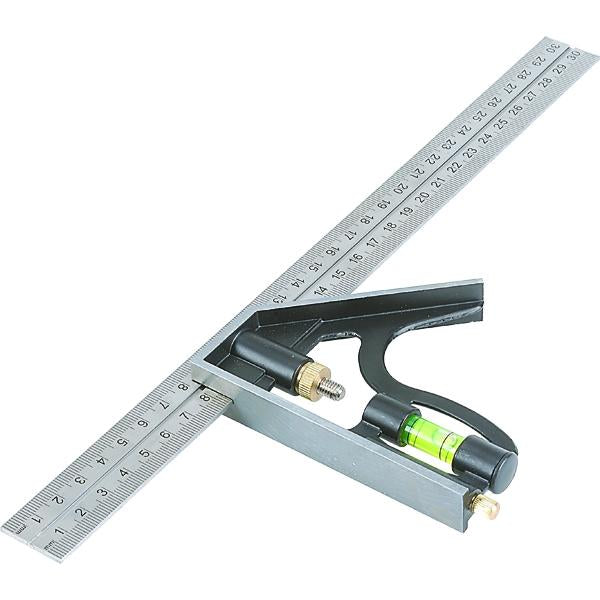 Tactix Rule Combination 300Mm | Measuring Tools - Tapes & Rules-Hand Tools-Tool Factory