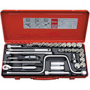 "Koken 3/8""Dr Socket Set - Metal Case Case Only-Sockets & Accessories-Tool Factory"