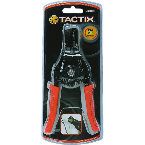 Tactix Wire Stripper Automatic | Pliers - Wire Stripping Pliers-Hand Tools-Tool Factory