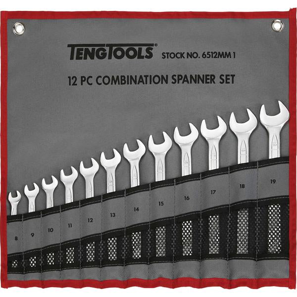 12Pc Roe Combination Spanner Set In Wallet- 8-19Mm | Wrenches & Spanners - Sets