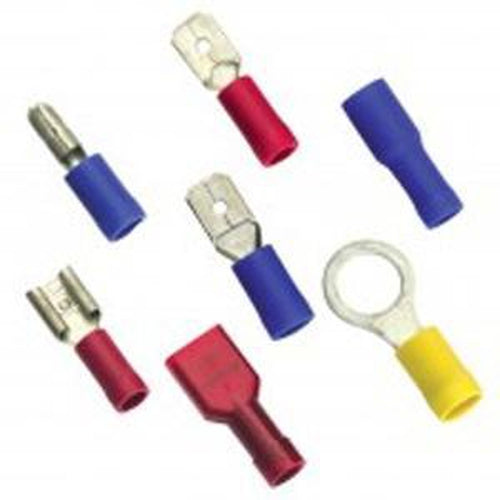 Champion 5/32In / 4Mm Blue Spade Terminal -10Pk | Auto Crimp Terminals - Wire Tap Connectors