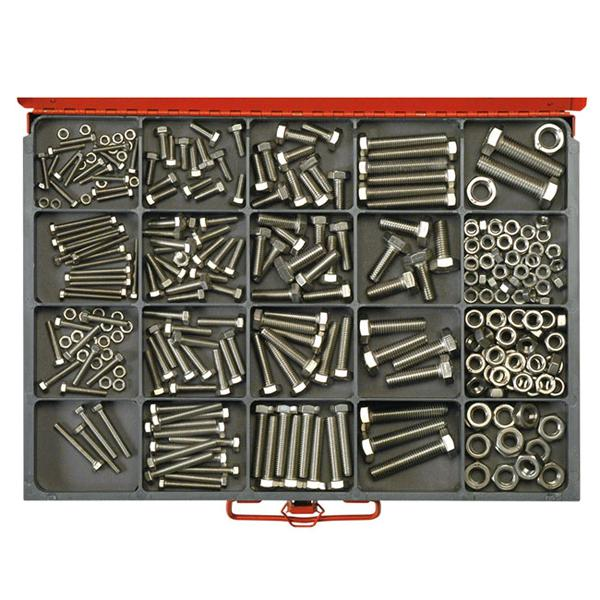Champion Master Kit 316Pc Metric Set Screw & Nut Asst 304/A2 | Master Kits - Stainless Steel
