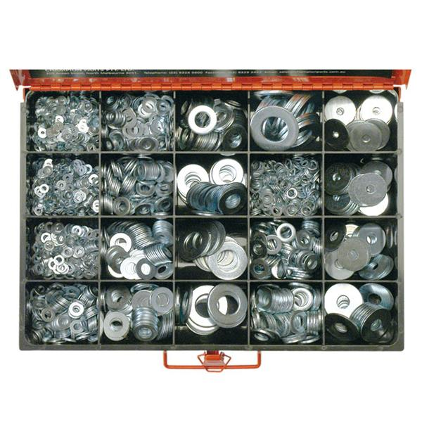 2190Pc Metric & Imperial Flat Washer Assortment | Master Kits - Washers