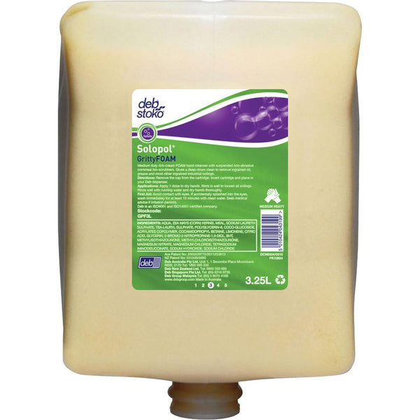 Deb|Stoko Solopol Grittyfoam - 3.25L Cartridge | Hand Cleaners & Skin Care - Heavy Duty Cleaning-Cleaners-Tool Factory