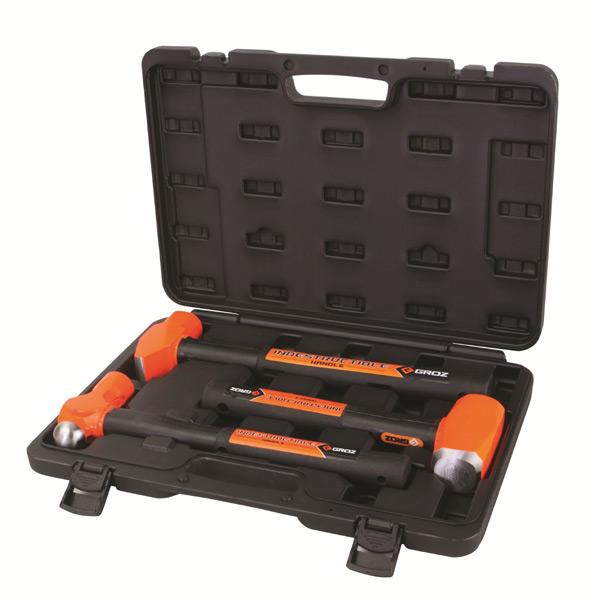 Groz 3Pc Indestructible Handle Hammer Kit (1) | Striking Tools-Hand Tools-Tool Factory