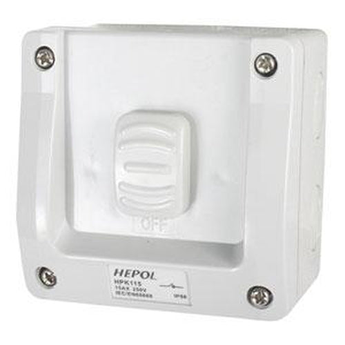 15A Weatherproof 1 Gang Surface Switch Ip66** | Plugs & Sockets - Surface Switches-Automotive & Electrical Accessories-Tool Factory