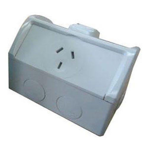 10A Weatherproof 1 Gang Power Point Ip53** | Plugs & Sockets - Power Points