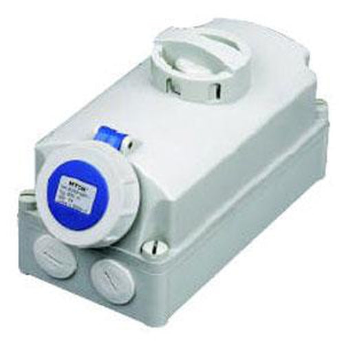 16A 3P 2P E Ip67 Interlocked Switch Socket 230V** | Plugs & Sockets - Interlock Switched Sockets